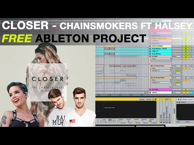 CLOSER - The Chainsmokers ft Halsey [FREE ABLETON PROJECT] : ZEVENX Remake