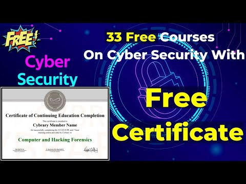 Best Free  Professional Courses  On Cyber Security With Free Certificate