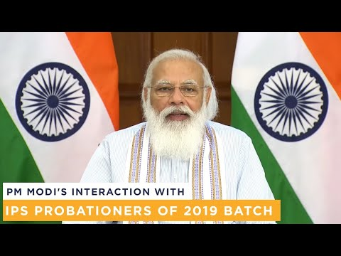 PM Modi's interaction with IPS Probationers of 2019 batch