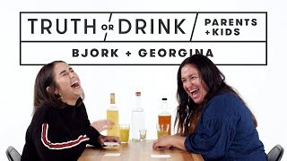 Parents & Kids Play Truth or Drink (Bjork & Georgina) | Truth or Drink | Cut