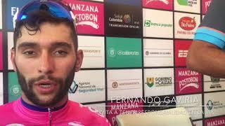 Miniatura Video El ciclista Fernando Gaviria felicita a la ANSV