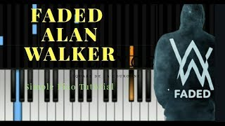 FADED - Alan Walker - [SLOW] Simple Piano Tutorial by Missing Lyrics