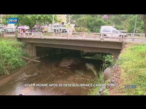 Jovem morre após se desequilibrar e cair de ponte em Blumenau