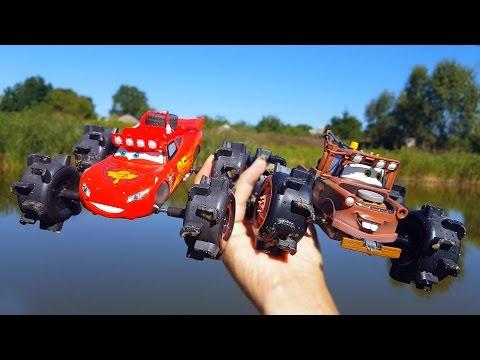 Машинки на водных колесах - Молния Маквин и Мэтр Обзор игрушек