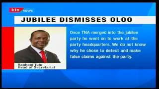 Raphael Tuju dismisses Onyango oloo, says he has reverted to tribal politics