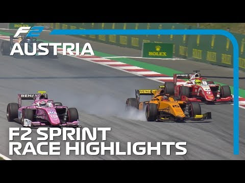 Formula 2 Sprint Race Highlights | 2019 Austrian Grand Prix