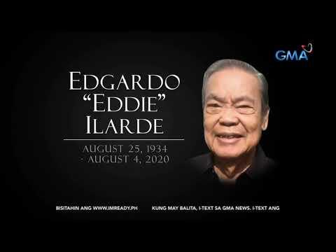 [GMA]  24 Oras: Eddie Ilarde, pumanaw sa edad na 85