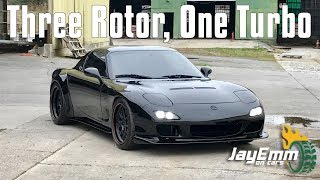 Driving a 720bhp 3 Rotor Swapped RX7 IN AMERICA