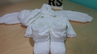 How to knit newborn cable bootties for beginners