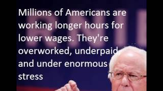 Top 5 Quotes from Sanders to truss Hillary  to Poverty  produce by Welfare Reform world news today