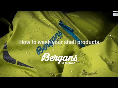 How to wash Bergans shell products