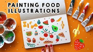 EASY AND QUIRKY FOOD ILLUSTRATIONS