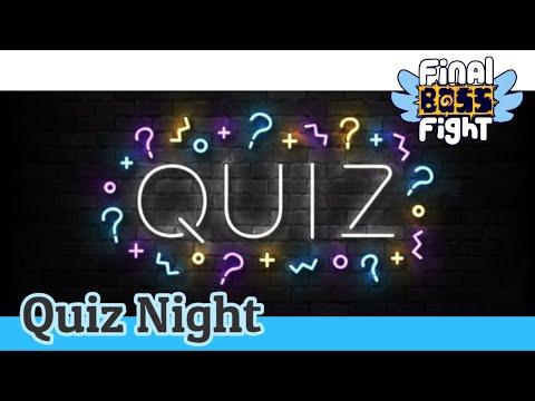 Video thumbnail for Final Boss Fight Pub Quiz – August 2021 – Final Boss Fight Live