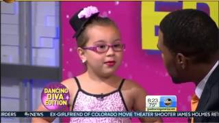 Johanna Colon 6 year old GMA INTERVIEW Girl Dances to Aretha Franklin's R E S P E C T Respect song