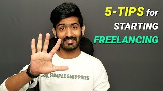5 Tips To Start Freelancing (for Beginners)   How To Start Freelancing
