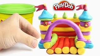 Play Doh Rainbow Castle Learn Color Stop Motion Animations Videos For Kids