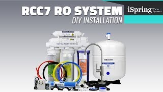 iSpring Reverse Osmosis Water Filter RCC7 installation