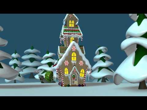 merry christmas and season's greetings 3d animation