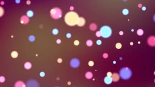 Seamless Loop Twinkling Circle Bokeh Colorful Lights With Alpha Channel