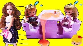 リカちゃんおもちゃアニメママがお買い物でお出かけミキちゃんマキちゃんちゃんとハウスでお留守番できるかな?❤ゆったりさんみーちゃんママ