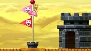 New Super Mario Bros. U Deluxe - All Secret Exits with Peachette