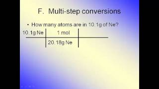 The Mole--Multi-step Conversions