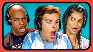 YouTubers React to Oddly Satisfying Food Compilation