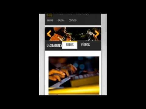 Site Web Rádio Responsivo Administrável
