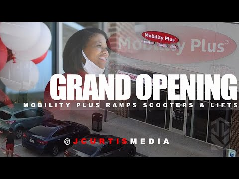 , title : 'Mobility Plus, GRAND OPENING, Store Location: Pearland, TX. Filmed by JCurtis Media