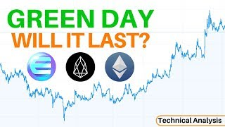 Small Move to The Upside, Will it Last? EOS UP 10% + Enjin & Ethereum