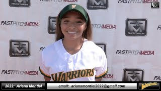 2022 Ariana Montiel Committed Howard - Outfield & Middle Infielder Softball Skills Video WB Warriors