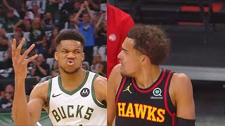 Giannis SHUTS UP TRAE YOUNG After Disrespectful Shimmy Dances! Bucks vs Hawks Game 2