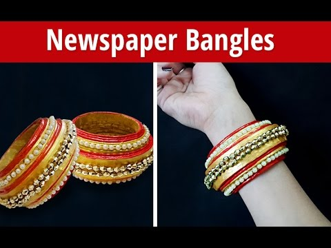 Easy Creative DIY Newspaper Bangles Making at Home | Paper Jewellery Making | StylEnrich