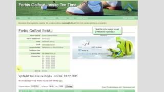 FORBIS TeeTime - Rezervácia ihriska