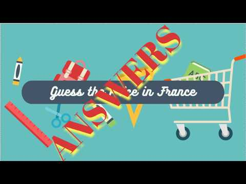 Answers to Play your own Billionaire Bill Gates Guesses Grocery Store Prices in French