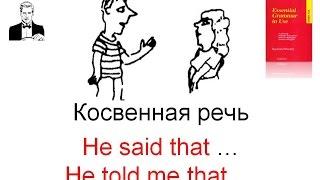Передача косвенной речи в английском языке. Разница между said и told.