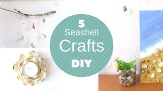 DIY Seashell Crafts Beach Decorations Shell Craft Ideas Art Painting And Jewelry By Fluffy Hedgehog