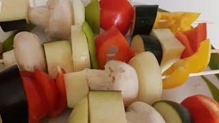 Шашлык из овощей в духовке и на гриле рецепт от канала домашняя кулинария