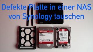 Defekte Platte in einer Synology NAS tauschen