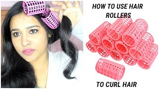 HOW TO USE HAIR ROLLER TO CURL HAIR AT HOME