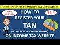 HOW TO REGISTER YOUR TAN ON INCOME TAX WEBSITE !! CA MANOJ GUPTA!!
