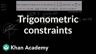 IIT JEE Trigonometric Constraints