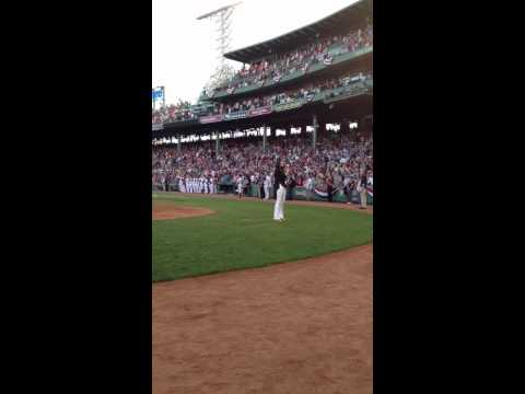 Whitney Doucet National Anthem Boston Red Sox
