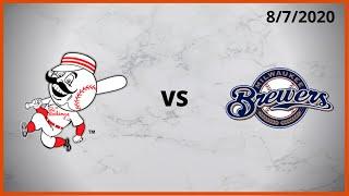 Cincinnati Reds Condensed Game (8/7/2020) Milwaukee Brewers Condensed Game