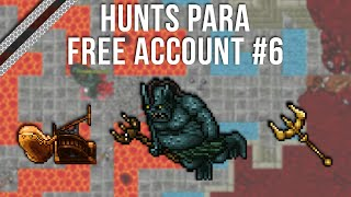 |Tibia| - HUNTS PARA FREE ACCOUNT #6 - SUNKEN MINES - LVL 40+ 2019