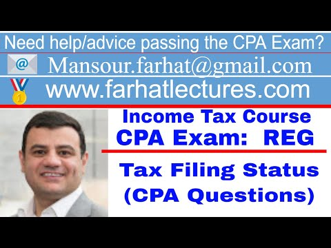 How to answer REG CPA Exam Questions | Tax Filing Status ...