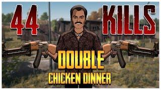 PUBG 44 Kills Double Chicken Dinner With Gaitonde   Jack Shukla Live