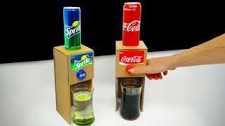 DIY How to make Coca Cola Sprite Dispenser from Cardboard