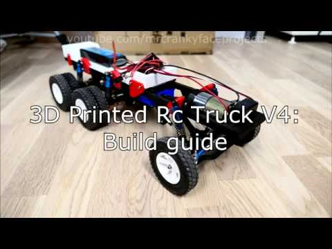 3D Printed Rc Truck V4 by MrCrankyface - Thingiverse