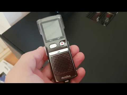 Video Review of the failing Mrobo M98 Voice Recorder - Dictaphone